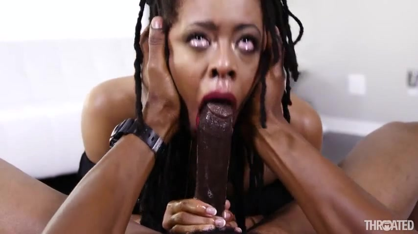 Ebony Wife Sloppy Blowjob
